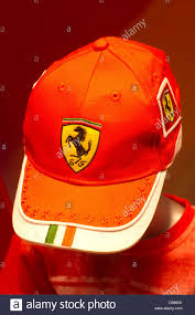 ferrari logo ferrari merchandise children cap with ferrari logo stock photo
