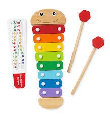amazon com melissa u0026 doug caterpillar xylophone musical toy with