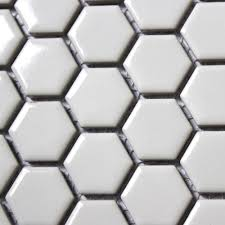 11pcs fashion white hexagon ceramic mosaic kitchen backsplash
