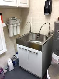 stainless steel laundry sink utility sink and cabinet all in one all in one in x in x in
