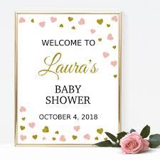 baby shower welcome sign baby shower signs strawberry and hearts