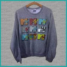 vintage mtv sweatshirt small grey yocrewneck