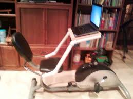 Diy Treadmill Desk by Laptop Desk For Stationary Recumbent Exercise Bicycle Stationary
