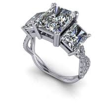 engagement rings sale images On sale russian brilliants ring radiant cut three stone ring jpg