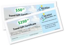 travel gift certificates a gift of travel