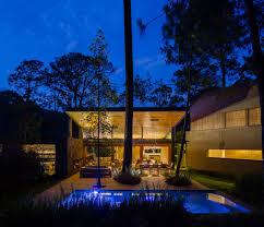 Native House Design Home Design Swimming Pool Blue Natural Background At Dusk