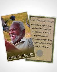 Funeral Card Template 2 Page Grad Fold Funeral Program Template Brochure Golden