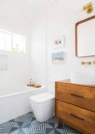 guest bathroom reveal emily henderson mid century modern