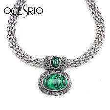 choker collar necklace vintage images Green malachite stone necklace vintage choker necklaces womens jpg
