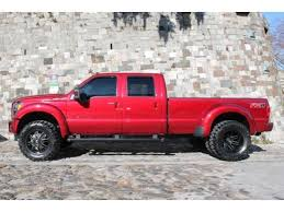 2015 ford f 350 lifted dually in ruby red metallic inside ford