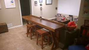 table that goes behind couch easy behind the couch bar top for movie night