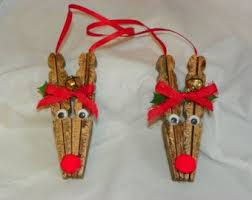 handpainted reindeer ornament on a by postalmom1987