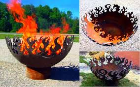 Custom Metal Fire Pits by Recycled Steel Fire Pits Great Bowls Of Fire