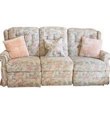 la z boy floral patterned reclining sofa ebth