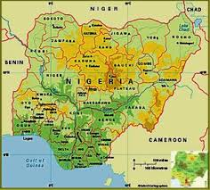 nigeria physical map africaci25804 nigeria geography