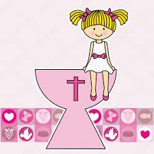 Holy Communion Invitation Cards First Communion Invitation Card U2014 Stock Vector Sbego 33049009