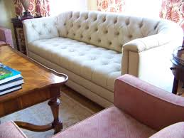 Tufted Sofa Sectional Tufted Leather Sectional Sofa 1 White Brown Stock