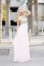 champagne pink gold sequin maxi dress beautiful modest
