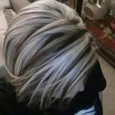 silver hair with lowlights gray highlights on dark brown hair google search hair