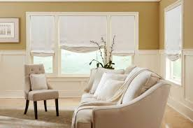 window treatments custom roman shades small living room with