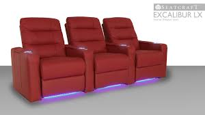 Palliser Theater Seats Seatcraft Excalibur Lx Home Theater Seating 4seating