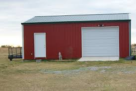 Steel Pole Barn Very Simple 30 X 50 Metal Pole Barn Home In Oklahoma Hq Pictures