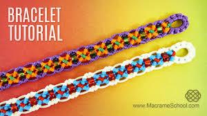 bracelet macrame patterns images Diy easy x wave bracelet tutorial by macrame school jpg