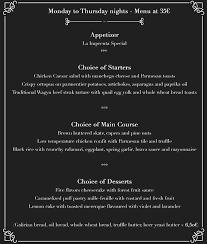 night menus la imprenta grand café restaurante ibiza