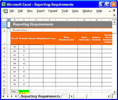 Requirements Template Excel All Sizes Reporting Requirements Template Excel Spreadsheet