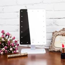 lighted makeup cosmetic vanity mirror tabletop 20 led light touch