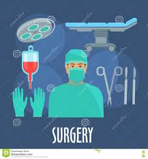flat design surgery operating room stock vector image 64018539