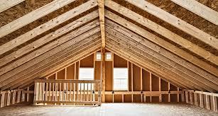 2 story prefab garage horizon structures attics pinterest
