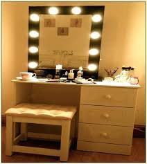 vanity make up table elegant vanity makeup table with lights mirror for around plan