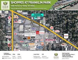 Map Toledo Ohio by Shoppes At Franklin Park U2013 Eidi Properties