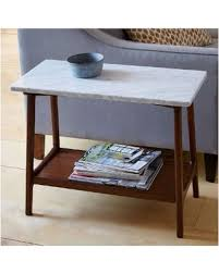 west elm marble table memorial day shopping special west elm reeve side table long narrow