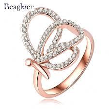 crystal rings wholesale images Beagloer fancy design latest female rings austrian crystal rose jpg