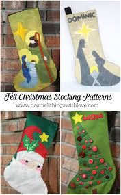 4 felt christmas stocking patterns from do small things with love