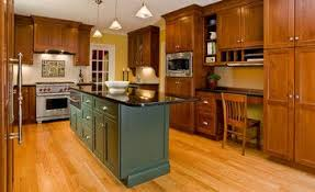 kitchen island colors with wood cabinets oak cabinets with green island design ideas pictures