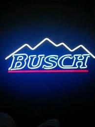 busch light neon sign new busch beer light mountain neon light sign 17 x14 ebay