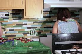 Easy Backsplash Kitchen Affordable Diy Backsplash Mosaic Tile Paint Project