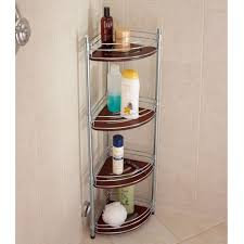 the teak and stainless steel shower organizer hammacher schlemmer