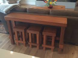 Sofa Table With Stools Wildgrain Woodworking Mahogany Sofa Table With Stools