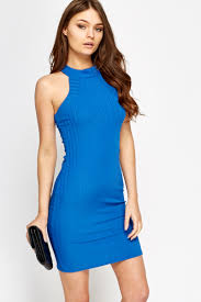 blue bodycon dress high neck royal blue bodycon dress just 5