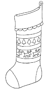 lofty stocking coloring page the christmas with a bow