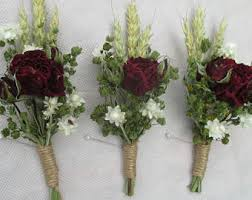 Groom S Boutonniere Rustic Buttonhole Etsy