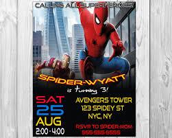 spiderman birthday party invitations spiderman invitation