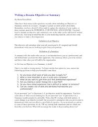 resume summary examples obfuscata how to write executive peppapp