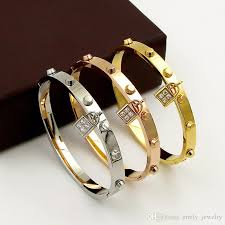stainless steel cuff bracelet images Luxury brand pulseira stainless steel cuff bracelets bangles for jpg