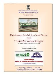 maintenance schedule for diesel electric type 8 wheeler tower