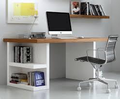 multi office table pure white legs walnut top tema home